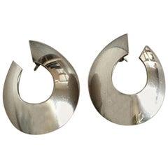 Georg Jensen Sterling Silver Modern Style Earrings 'Sticks' No 377