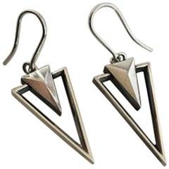 Georg Jensen Sterling Silver Earrings No 569A by Regitze Overgaard