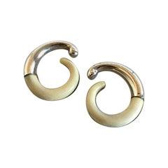 Georg Jensen Sterling Silver Earrings with Ivory