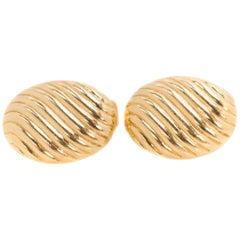 Tiffany & Co. 18 Karat Yellow Gold Oval Cufflinks