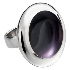 "Anish Kapoor 18 Karat White Gold and Violet Enamel Ring, 'Water Form I"", 2011"