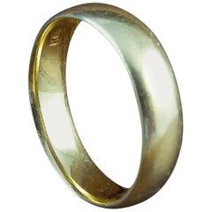 Antique Gold Wedding Ring, 22 Carat Yellow Gold, Birmingham 1919 Hallmark