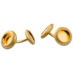 "Anish Kapoor 22 Karat Yellow Gold Cufflinks ""Water Form I"", 2008"