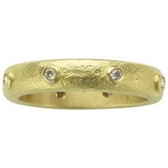 Beaten Eternity Ring with Diamonds