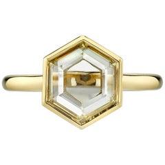 Unique 1.44 Carat Hexagon Rose Cut Ring