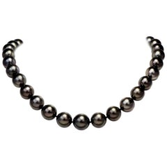 Lustrous Tahitian Southsea Pearl Necklace with 18 Karat Gold Clasp