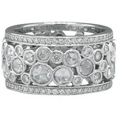 Tiffany & Co Cobblestone Band Ring Rose Cuts & Round Diamonds 2.12 TCW Platinum