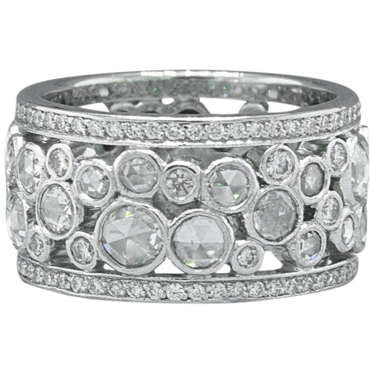 Tiffany And Co Cobblestone Band Ring Rose Cuts And Round