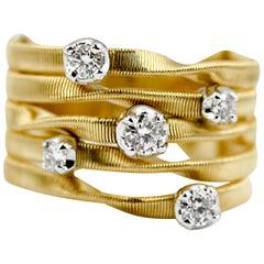 Marco Bicego Marrakech 18 Carat Yellow Gold Diamond Stud Ring