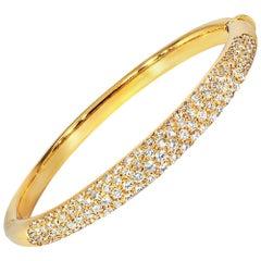 Ladies 18 Karat Yellow Gold 7.25 Carat Diamond Bracelet