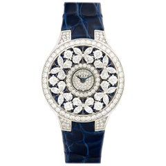 Graff White Gold Butterfly Diamond and Sapphire Watch