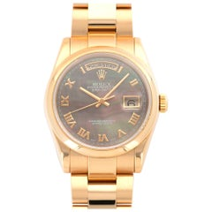 Rolex Rose Gold Day-Date Mother-of-Pearl Watch Ref. 118205