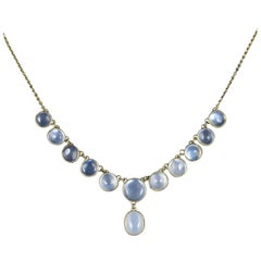 Antique Victorian Moonstone Necklace 18 Carat Gold, circa 1880