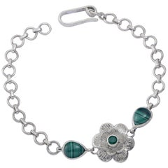 Emma Chapman Malachite Silver Bracelet