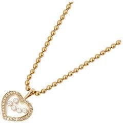 Chopard 18 Karat Yellow Gold Happy Diamonds Necklace
