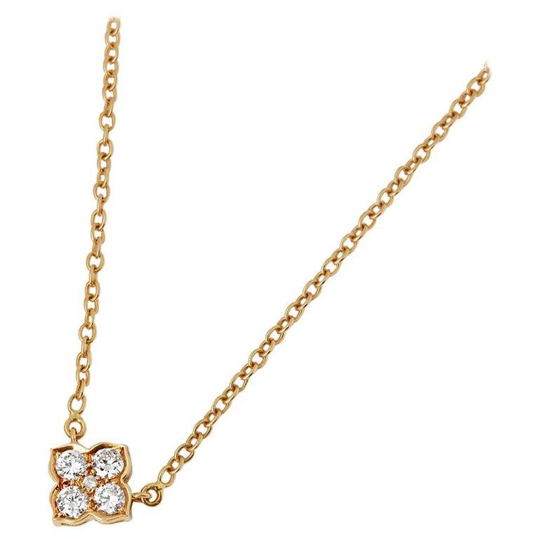 Cartier 18 Karat Yellow Gold Diamond Inde Mysterieuse Necklace