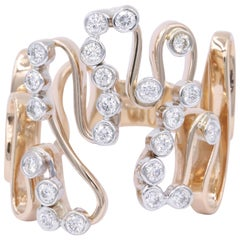 Rose Gold and Diamond Free-Form Fashion Ring