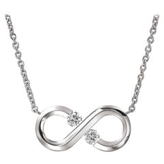 Steven Kretchmer Small Horizontal Infinity Necklace with Tension-Set Diamonds