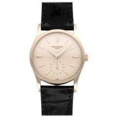 Patek Philippe White Gold Calatrava Wristwatch Ref 3796