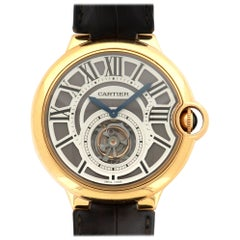 Cartier Rose Gold Ballon Bleu Flying Tourbillon Wristwatch