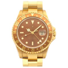 "Rolex Yellow Gold ""Root Beer"" GMT-Master II Wristwatch Ref 16718"
