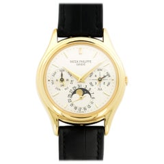 Patek Philippe Yellow Gold Perpetual Calendar Automatic Wristwatch Ref 3940