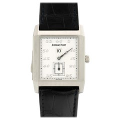 Audemars Piguet Platinum Jump Hour Minute Repeater Manual Wristwatch Ref 25723