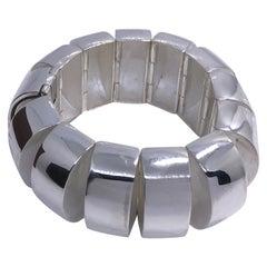 One-of-a Kind Original 1980s Sterling Silver Pomellato Bracelet