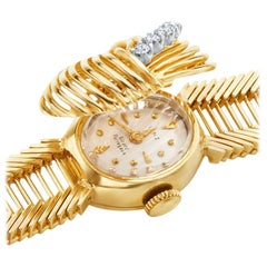 Girard-Perregaux Ladies Yellow Gold Diamond Bracelet Wristwatch, circa 1960s