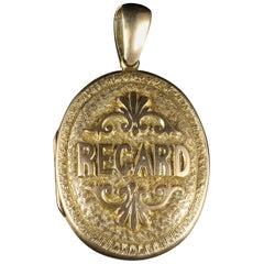Antique Victorian Regard Locket 9 Carat Gold, circa 1900