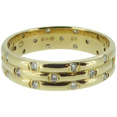 1980s Vintage Diamond Wedding or Eternity Ring, 18 Carat Gold