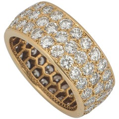 Cartier Yellow Gold Diamond Full Eternity Ring 3.60 Carat
