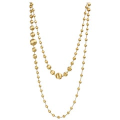 Marco Bicego Africa 18 Carat Yellow Gold Graduated Double Wave Necklace