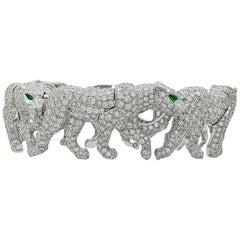 Cartier Diamond Five Walking Panther Bangle