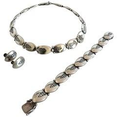 Georg Jensen Sterling Silver Jewelry Set #94