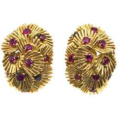 Van Cleef & Arpels Ruby Gold Earclips