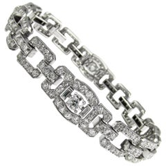 Raymond Yard Art Deco Diamond Platinum Bracelet