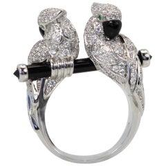 Cartier Les Oiseau Liberes Double Parrot Ring