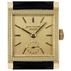 Patek Philippe Square Vintage Clous De Paris Champagne Dial Manual Wind Watch