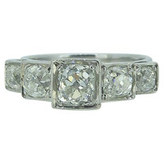 Art Deco Style 1.75 Carat Old Cut Diamond Ring, circa 1930s-1940s