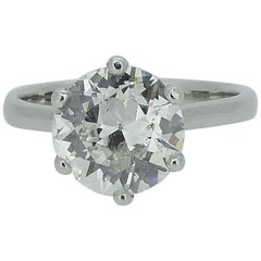 2.02 Carat Early Brilliant Cut Diamond Traditionally Set in a New Platinum Mount