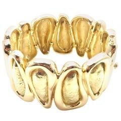 Tiffany & Co. Wide Yellow Gold Bangle Bracelet