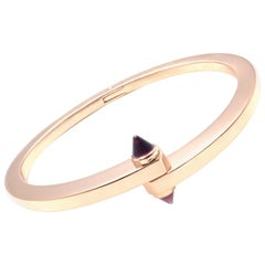 Cartier Menotte Garnet Rose Gold Bangle Bracelet