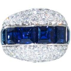 Bulgari Fine Sapphire and Diamond Ring