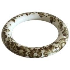 Royal Copenhagen Porcelain Bangle Bracelet with Flowers