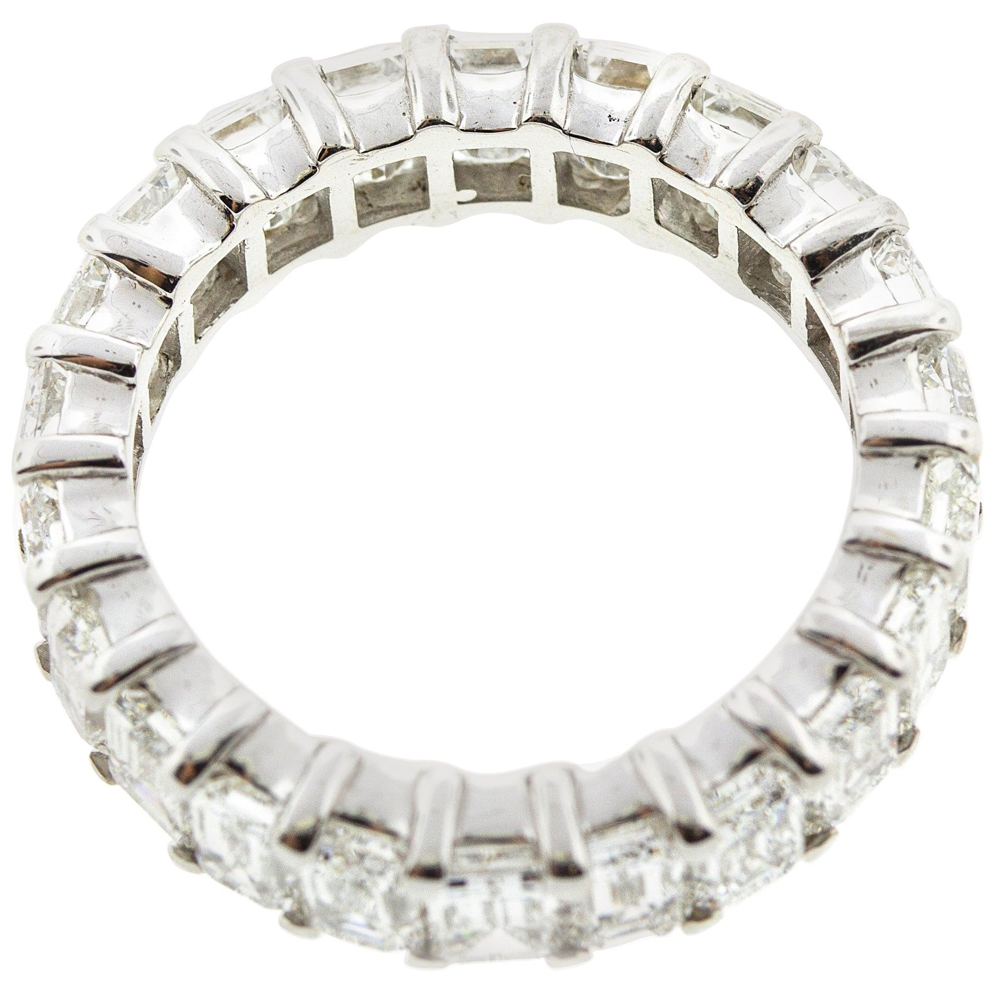 Emerald Cut Diamond Eternity Band 6.65 Carat