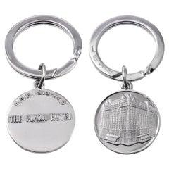 Plaza Hotel Sterling Silver Key Ring
