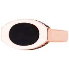 14 Karat Rose Gold and Black Onyx Oblong Signet