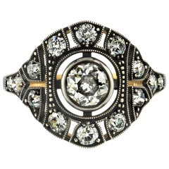 Edwardian Inspired Two-Toned Ring