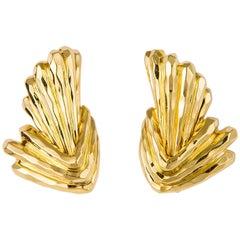 Henry Dunay Faceted Geometric Earrings